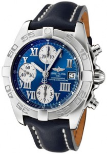 Breitling Men's Windrider Automatic/Mechanical Chrono Blue Dial Blue Leather