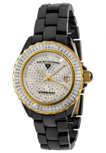 Swiss Legend Women's Karamica White Diamond (2.88 ctw) Pave Dial Black High-Tech Ceramic