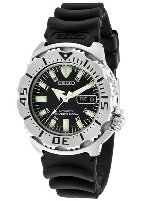 Seiko Black Monster Mens Diving Watch at World of Watches