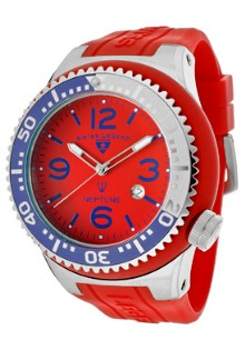Swiss Legend Red, White & Blue Mens Watch