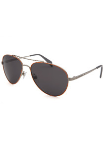 Diesel Aviator Silver-Tone and Orange Sunglasses
