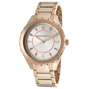 Kenneth Jay Lane 2200 Series Rose-Tone Stainless Steel Silver-Tone Dial Rose-Tone SS