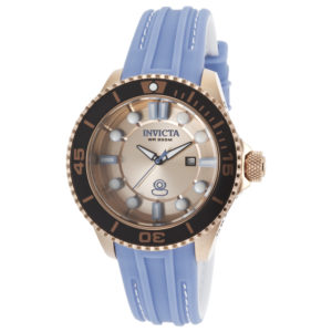 Invicta Women's Pro Diver Grand Diver Light Blue Silicone Rose-Tone Dial Watch