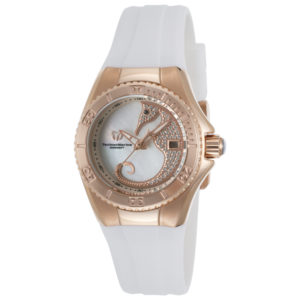 TechnoMarine Women's Cruise Dream White Silicone MOP Dial Crystal Accents